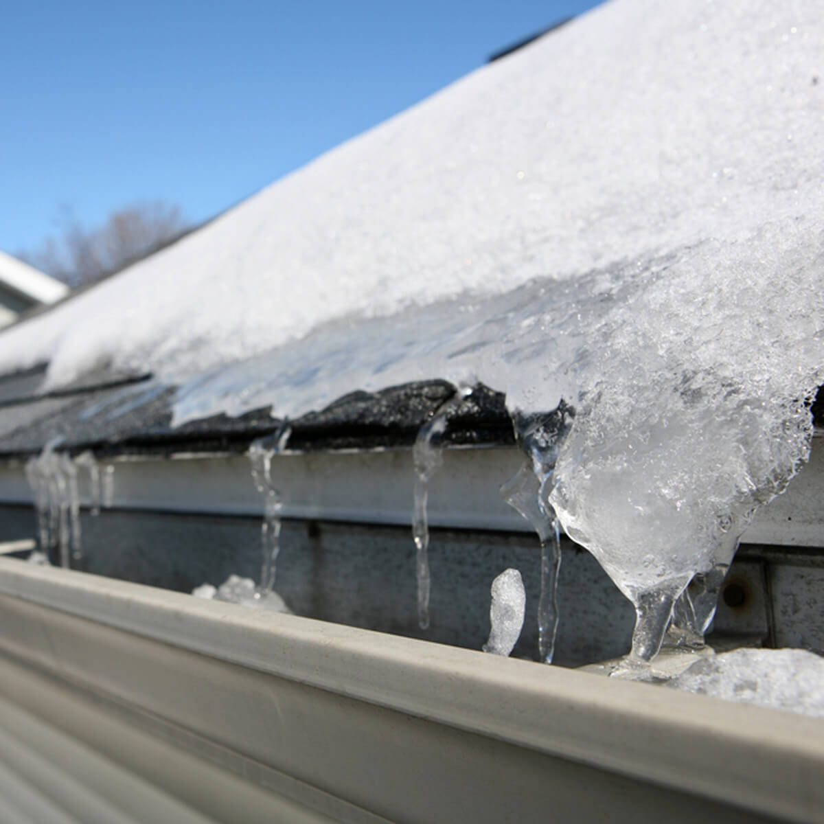 ice dams winter gutters