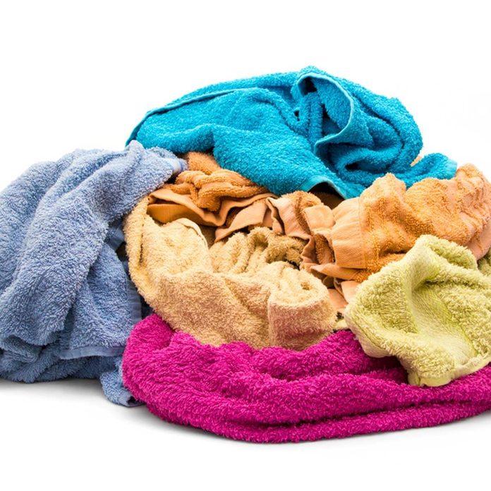 dirty wet towels hair dye