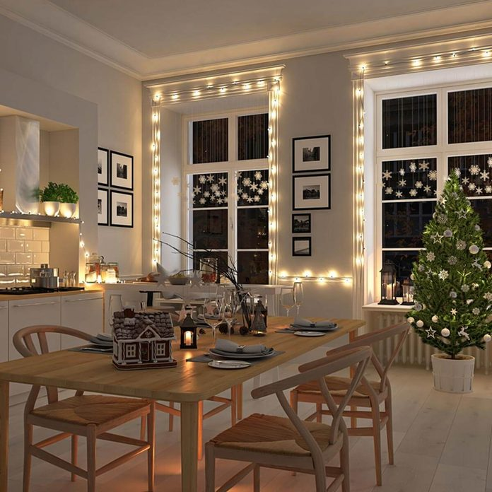 shutterstock_489094684 cozy kitchen christmas holiday decorations