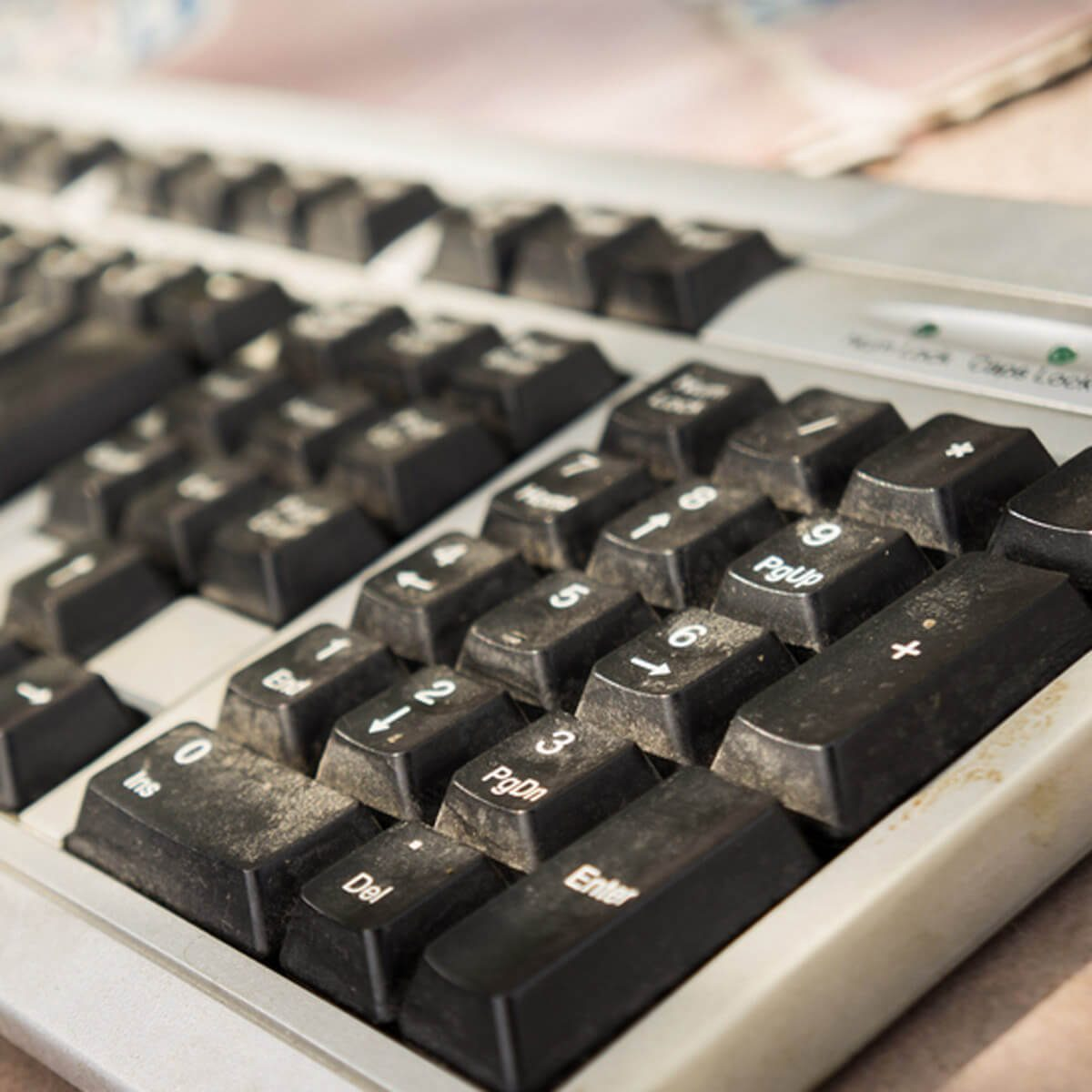 dirty dusty keyboard