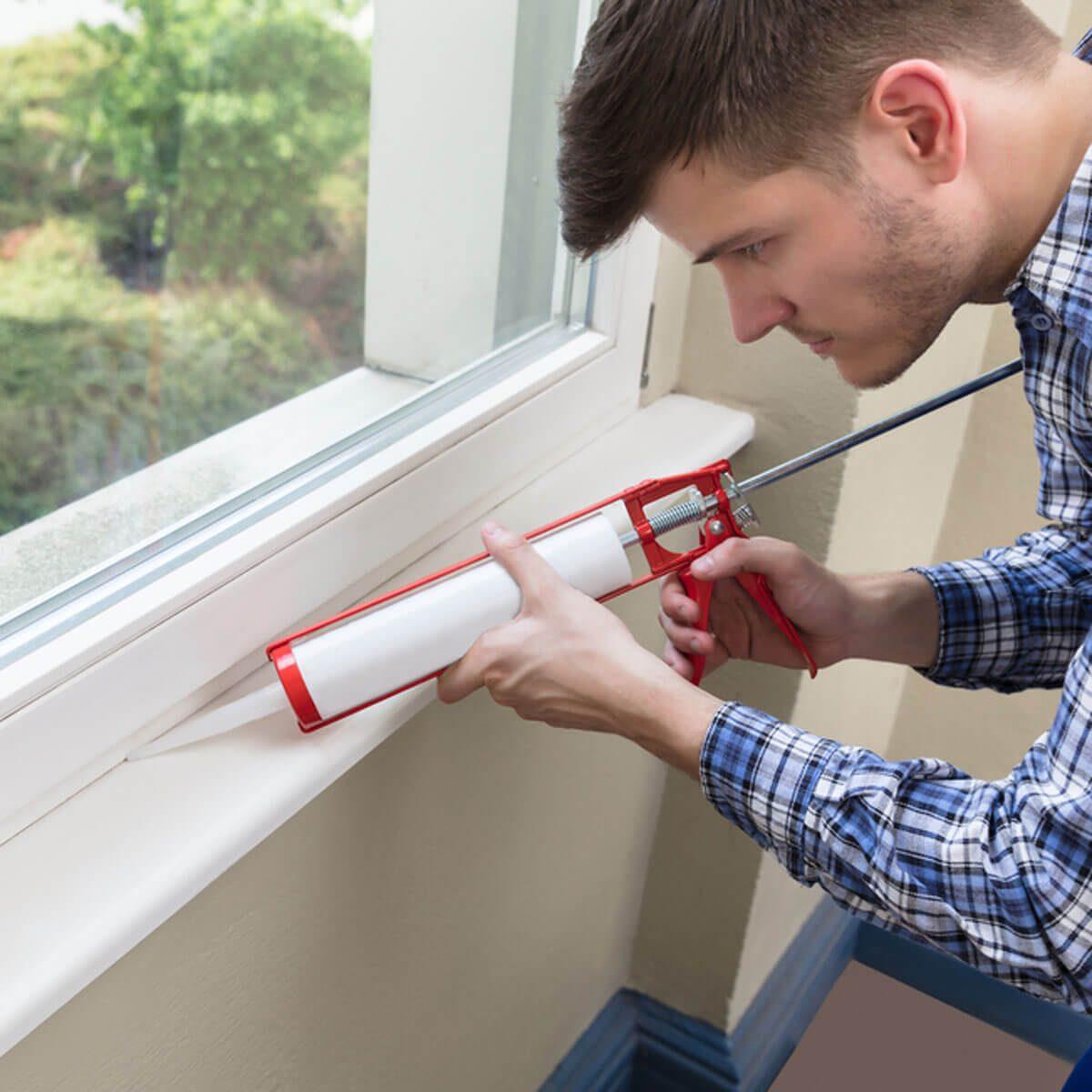 How to Keep House Warm: Caulk Windows and Doors