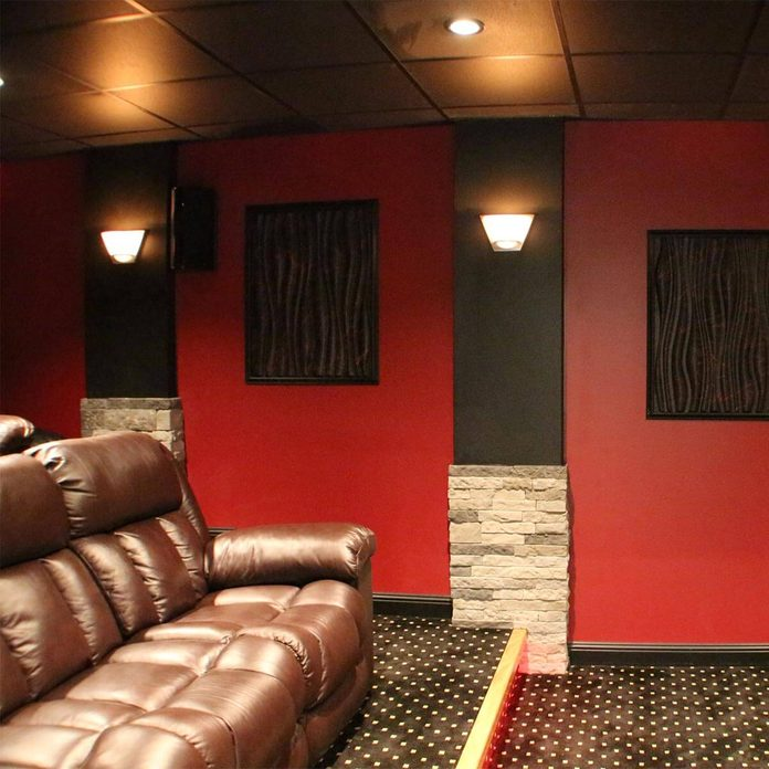 reader built home theater steps