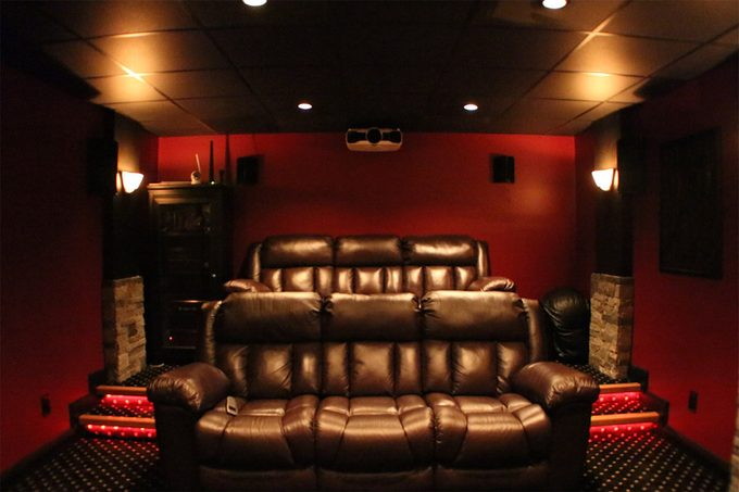 reader home theater seating and decor