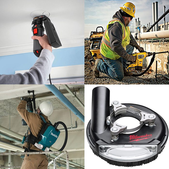 An assortment of tools for dust control   Construction Pro Tips