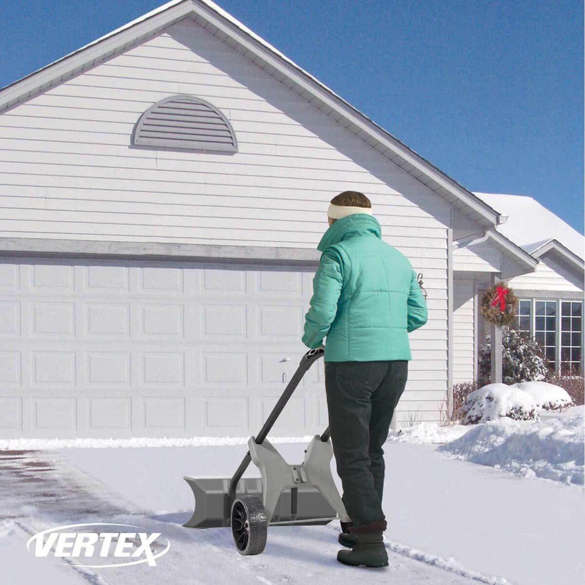 vertex snow pusher snow removal tool