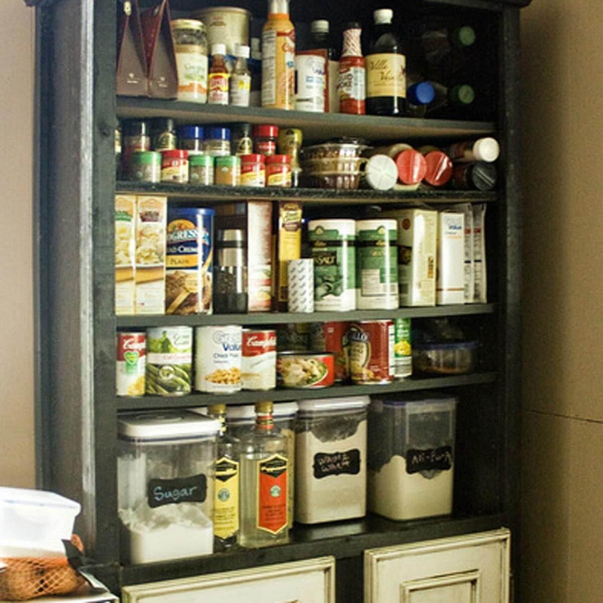 bookshelf pantry