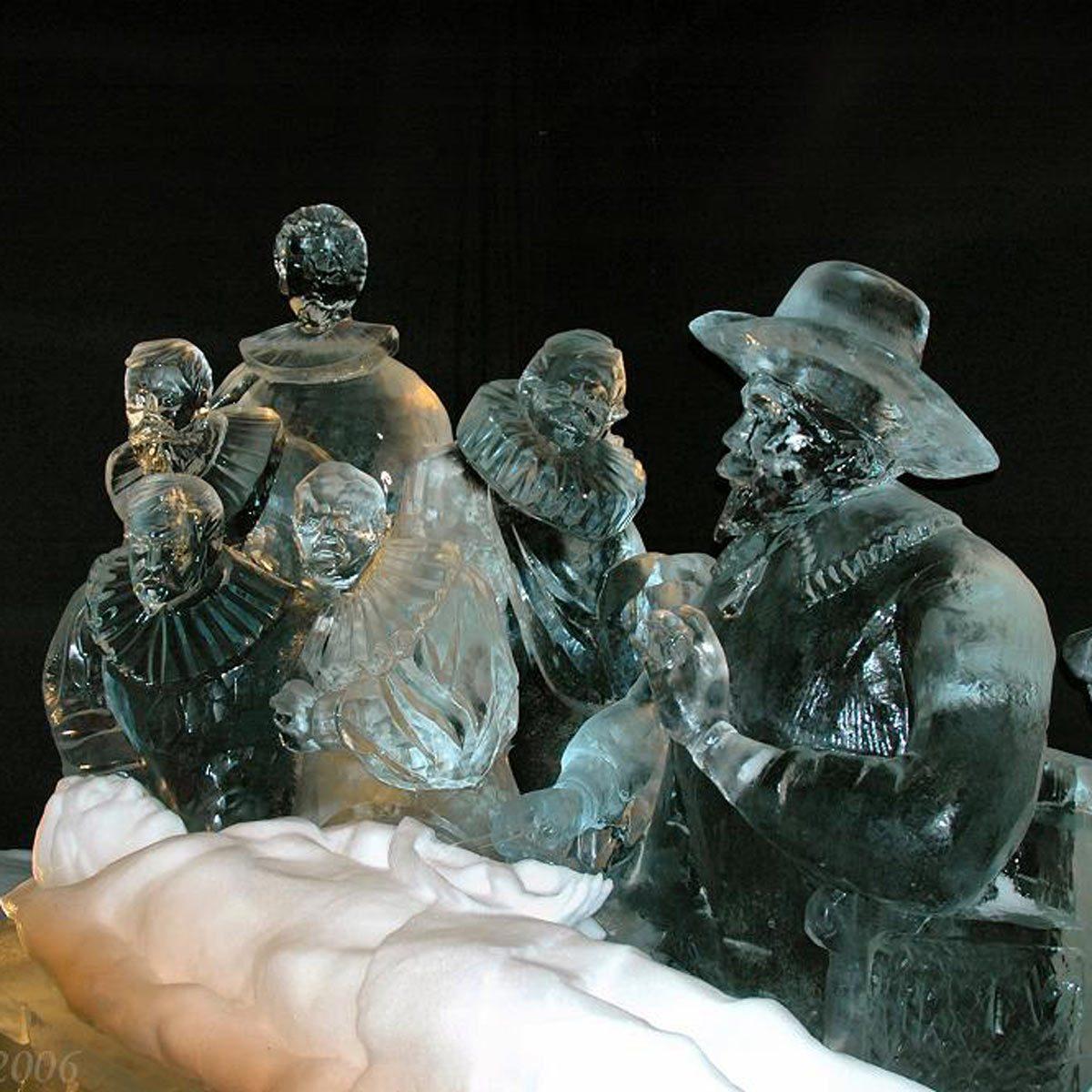 Rembrandt Inspires Ice Art