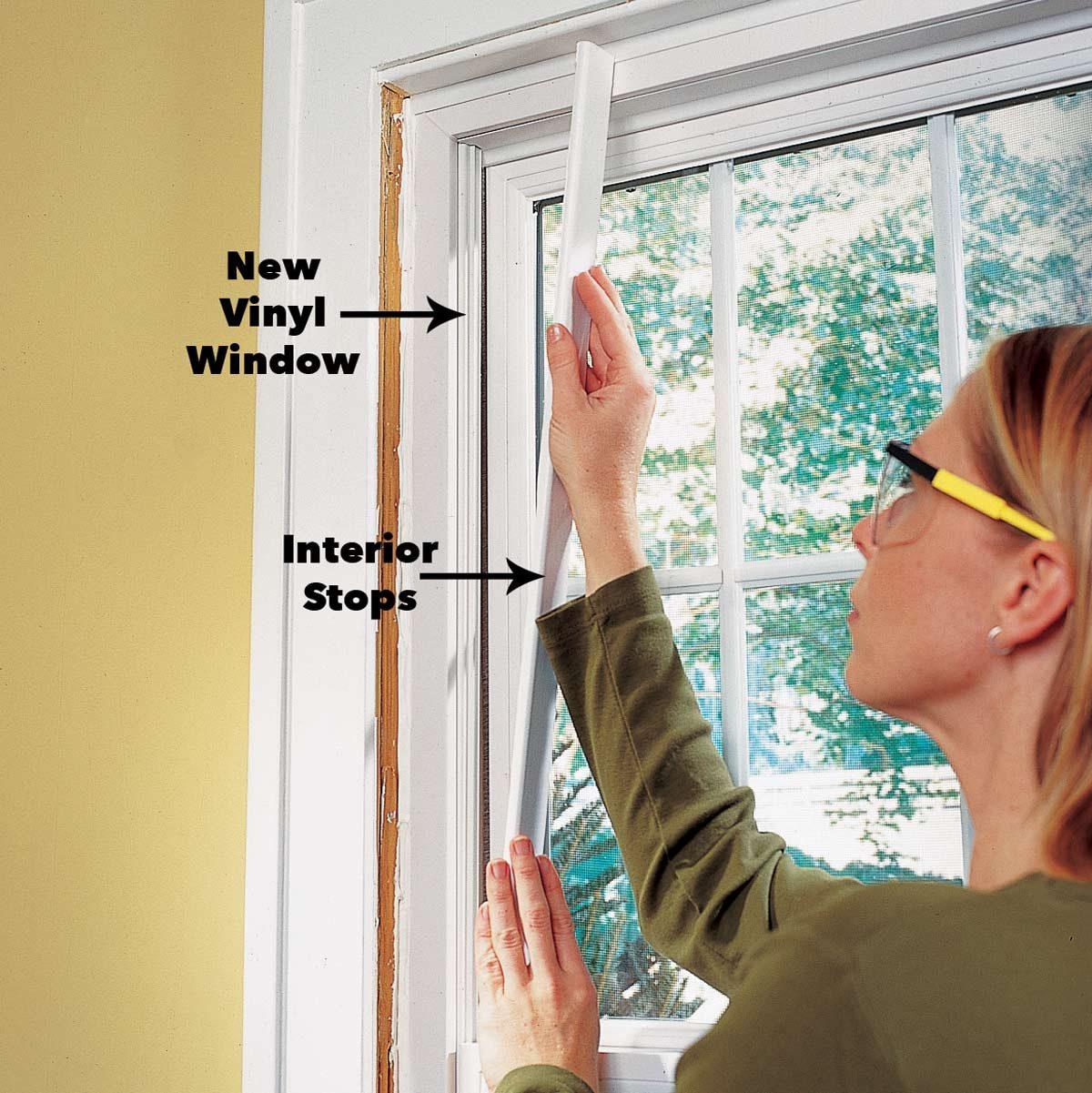 reinstall window trim