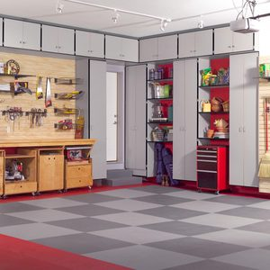 DIY Wooden Garage Cabinets