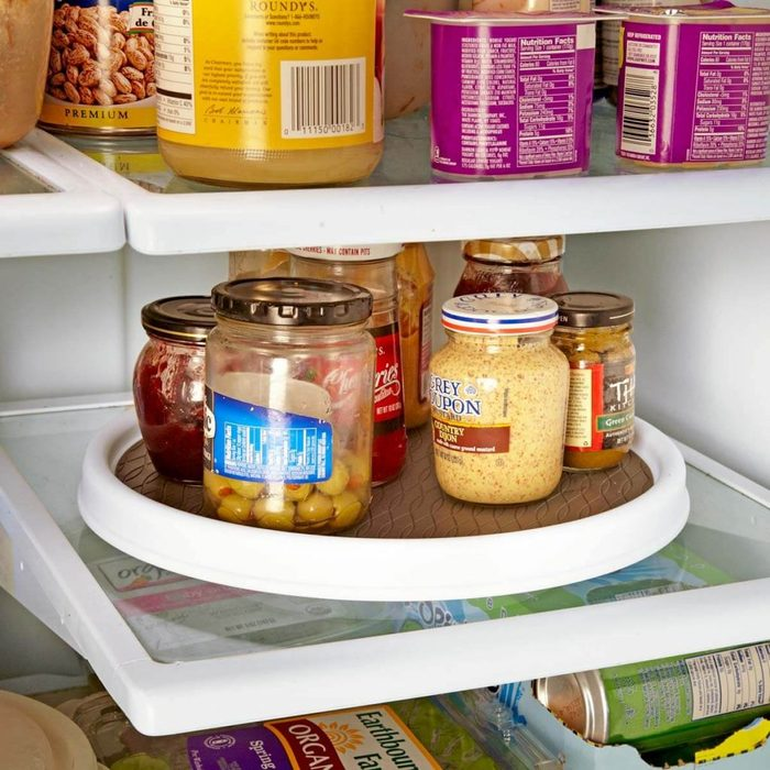 Put a Lazy Susan in Your Fridge
