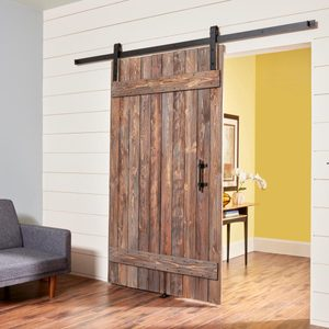 How to Make a DIY Rustic Barn Door and Hardware