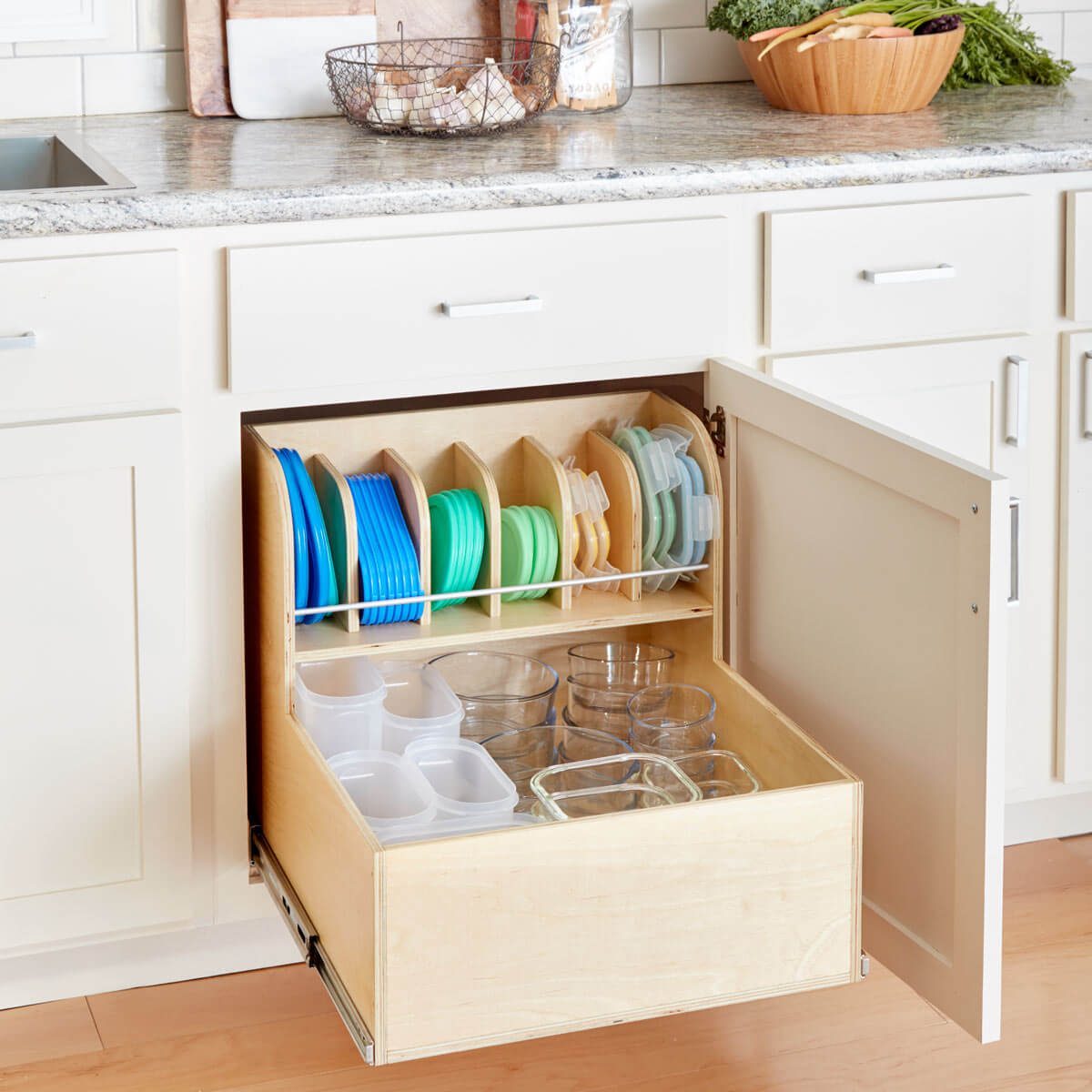 ultimate container storage cabinet tupper wear kitchen organization
