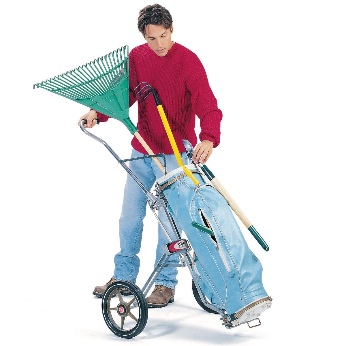 FH98APR_01300001 golf bag lawn tool carrier