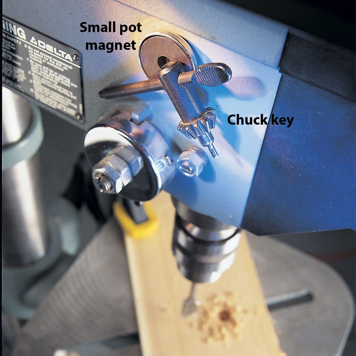 chuck key magnet