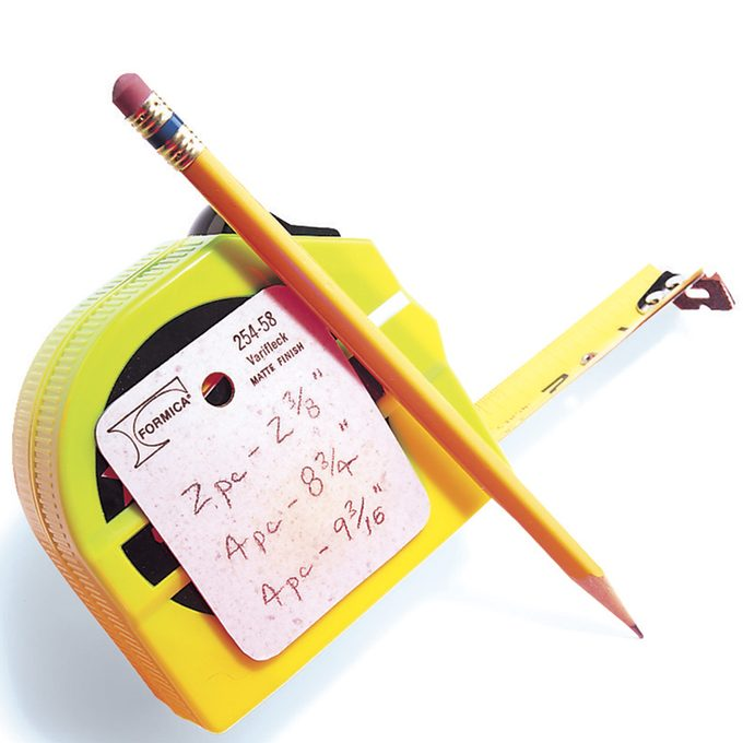 measuring tape writing surface