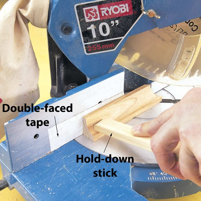 moldings on a miter saw