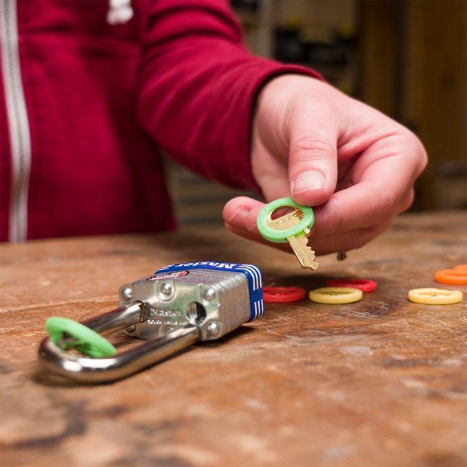 Color-Code Padlocks and Keys