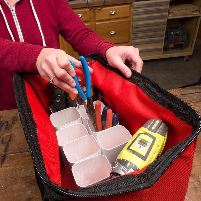 use gutters for tool organization