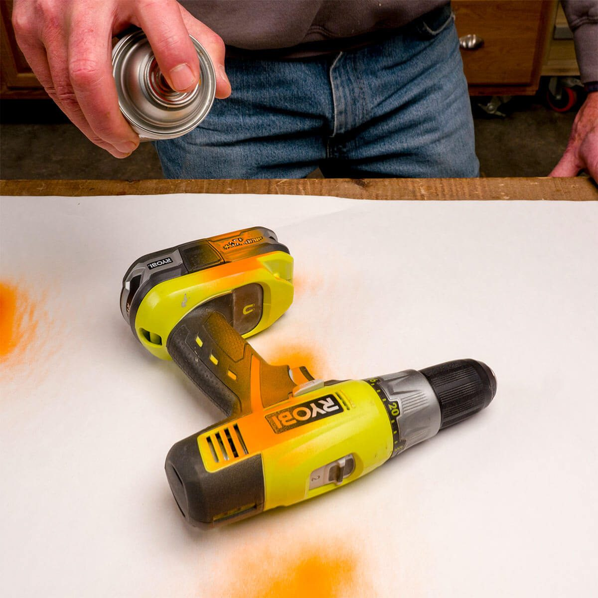 tag tools with spray paint