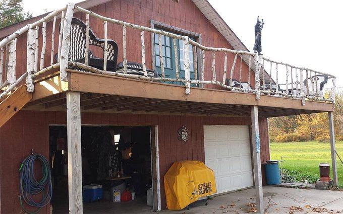 birch deck railing by reader