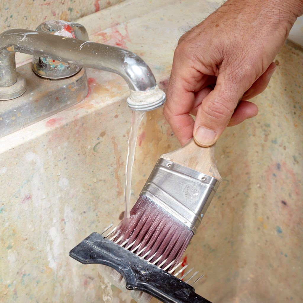 Combing through a paint brush | Construction Pro Tips