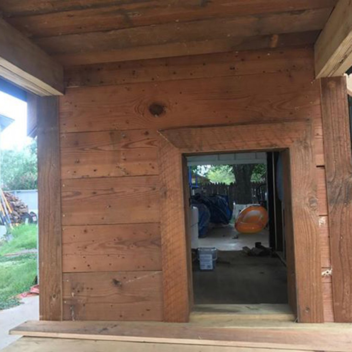 dog house front entrance
