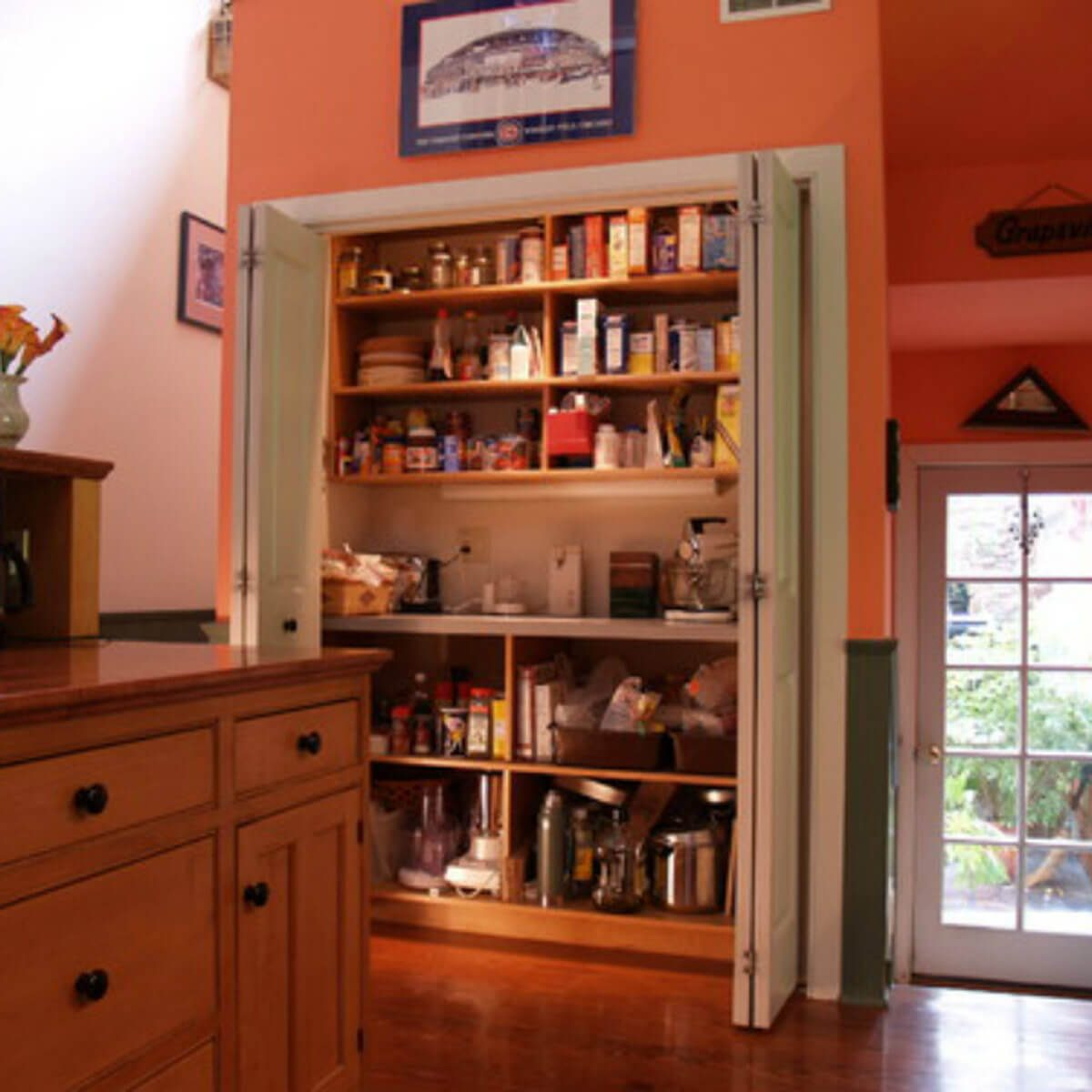 eclectic-kitchen building a pantry