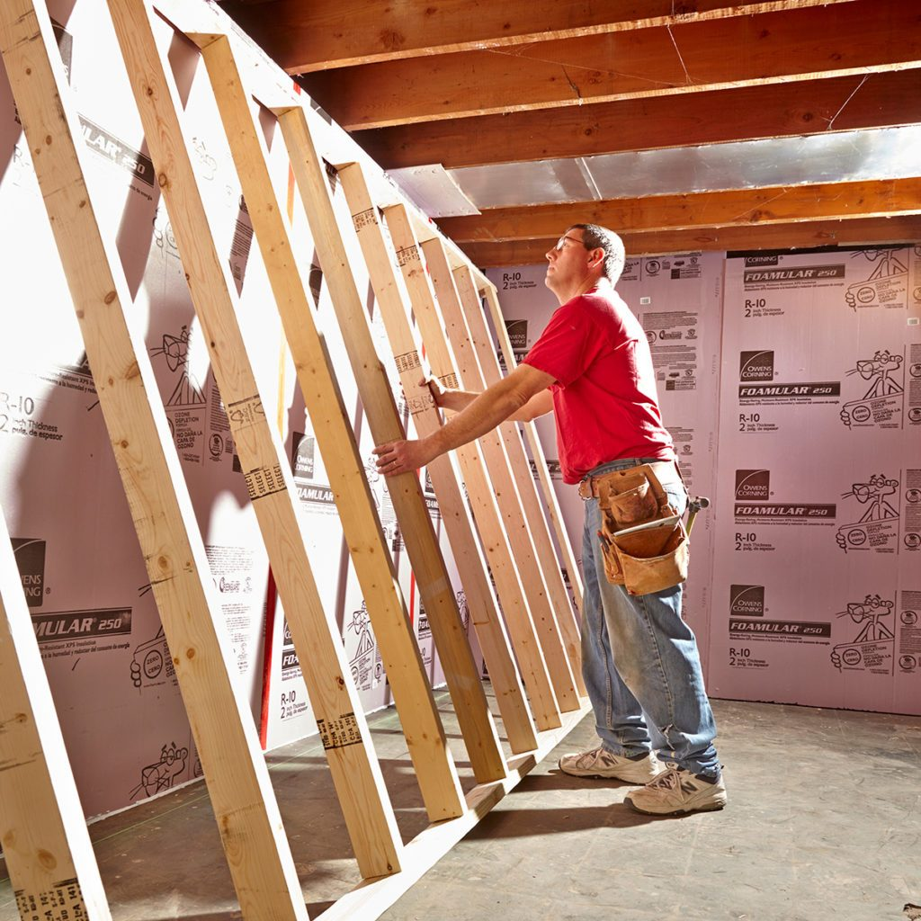 Framing an unfinished basement | Construction Pro Tips