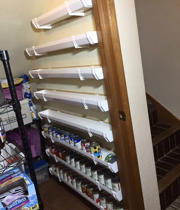 reader partially stocked gutter can storage