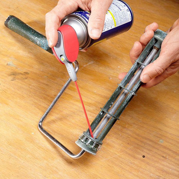 Lube the roller with WD-40 | Construction Pro Tips