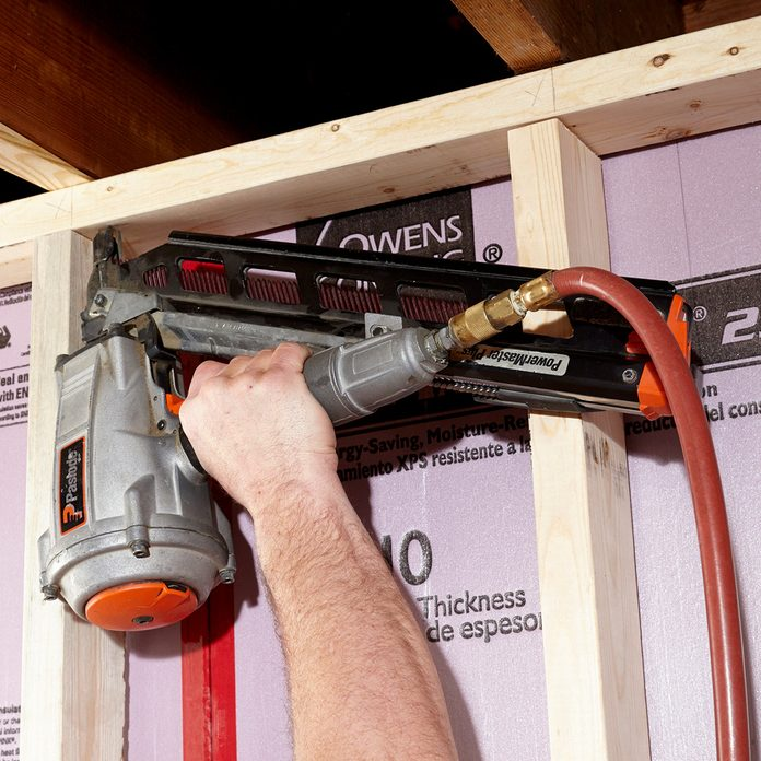 Plumb and secure the top plate   Construction Pro Tips