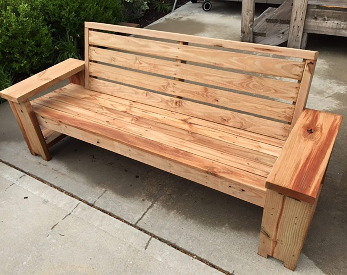 reader project patio bench combo