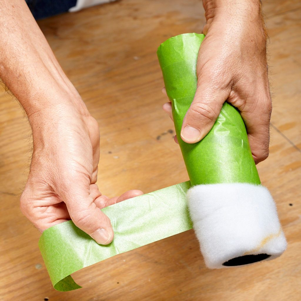 Removing the fuzz from a paint roller | Construction Pro Tips