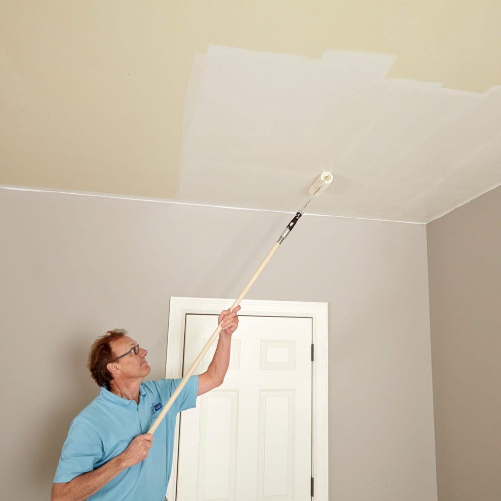 Rolling in both directions while ceiling painting | Construction Pro Tips