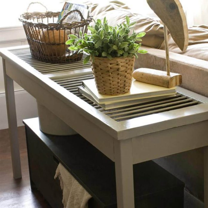 shutter-table window Shutters Into a Console Table