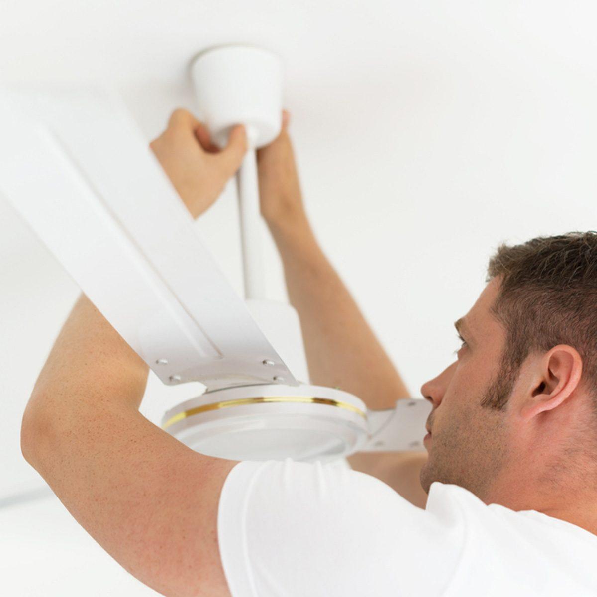 shutterstock_736362115 install ceiling fan