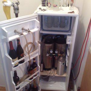 small kegerator beer keg fridge