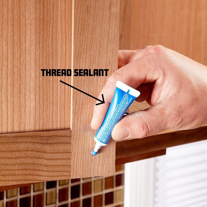 Use thread sealant to keep the screws tight