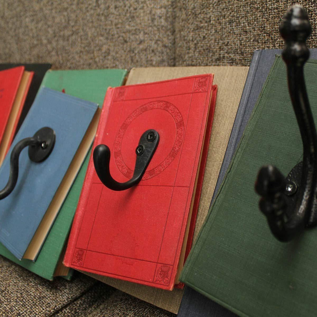 books wall hooks