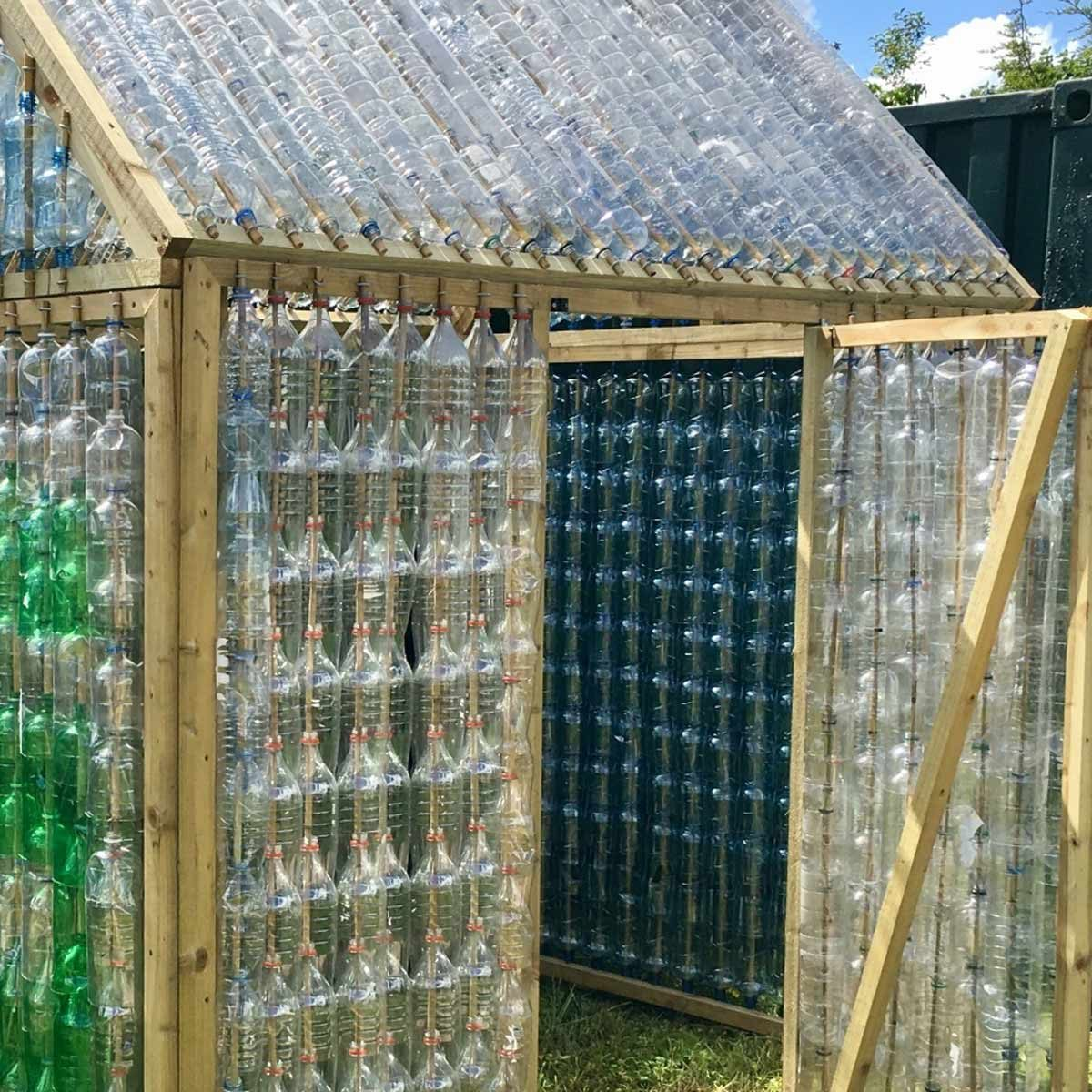 plastic bottles greenhouse