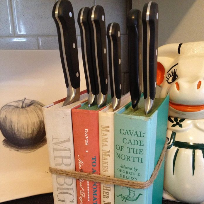 old books knife block