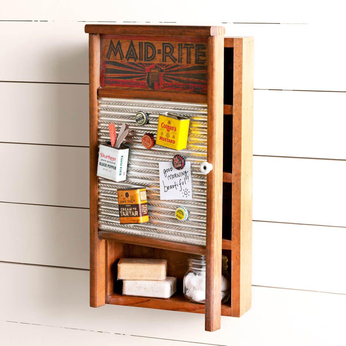 laundry room organizing ideas washboard memo station