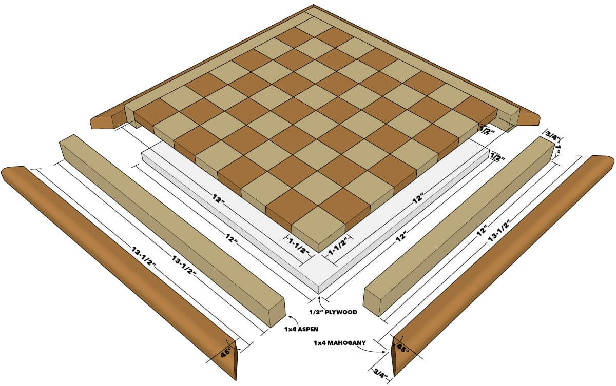 Chessboard Tech Art