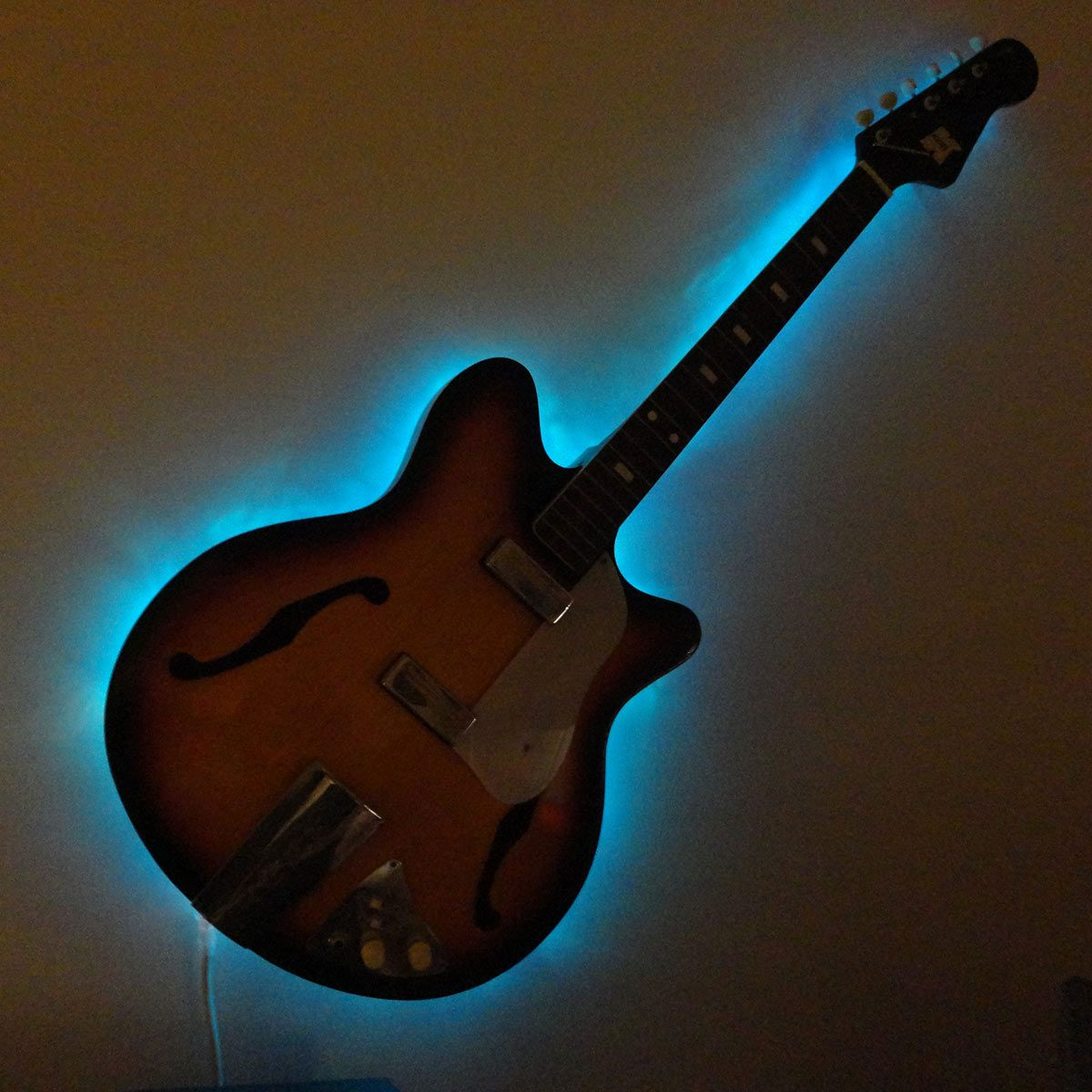 trash to treasure lighted guitar
