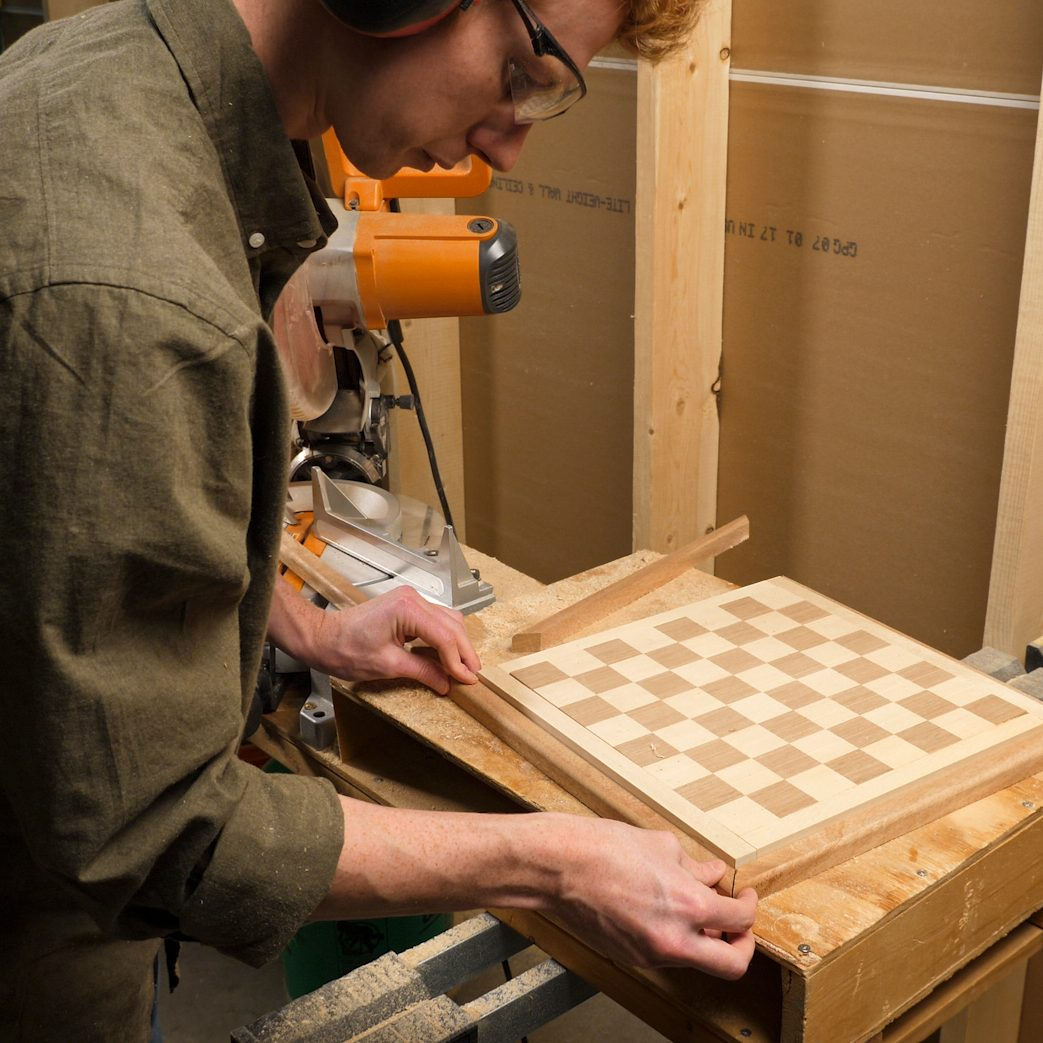 Chessboard Miter 45 Degree Angles