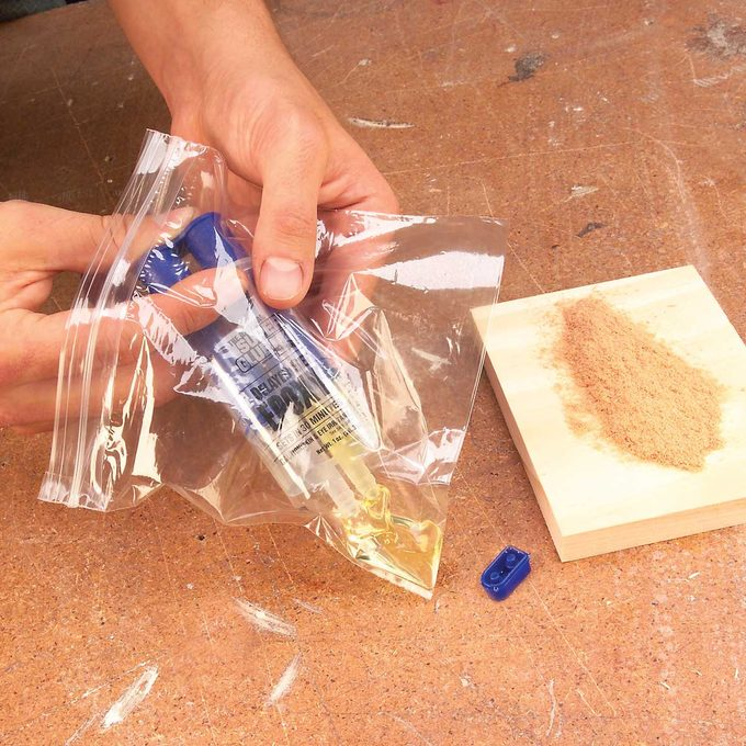 wood filler bag