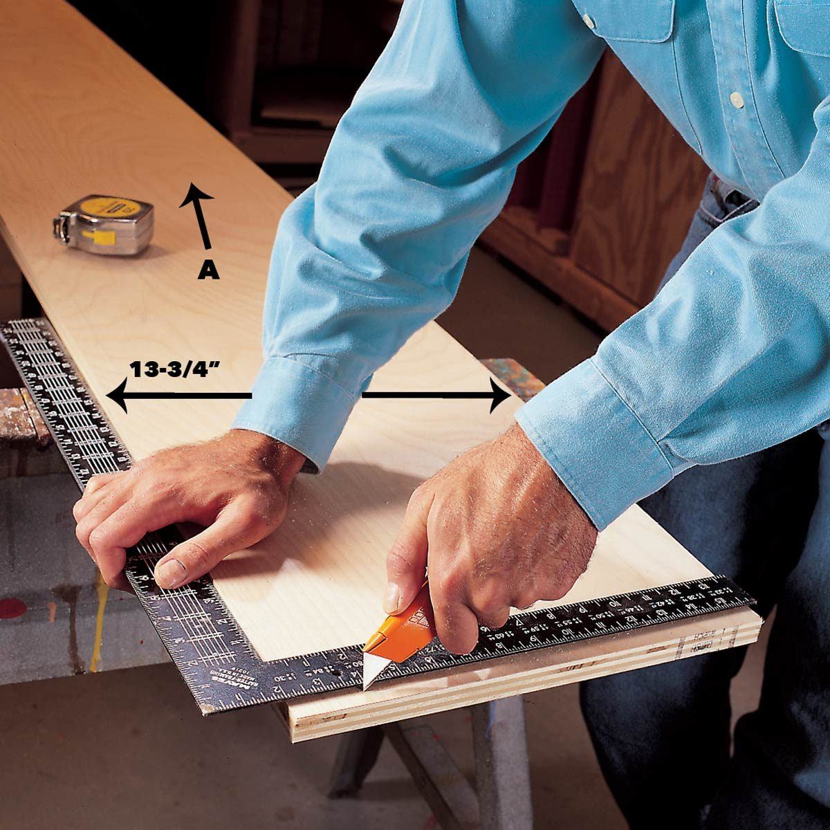 Cut plywood ends