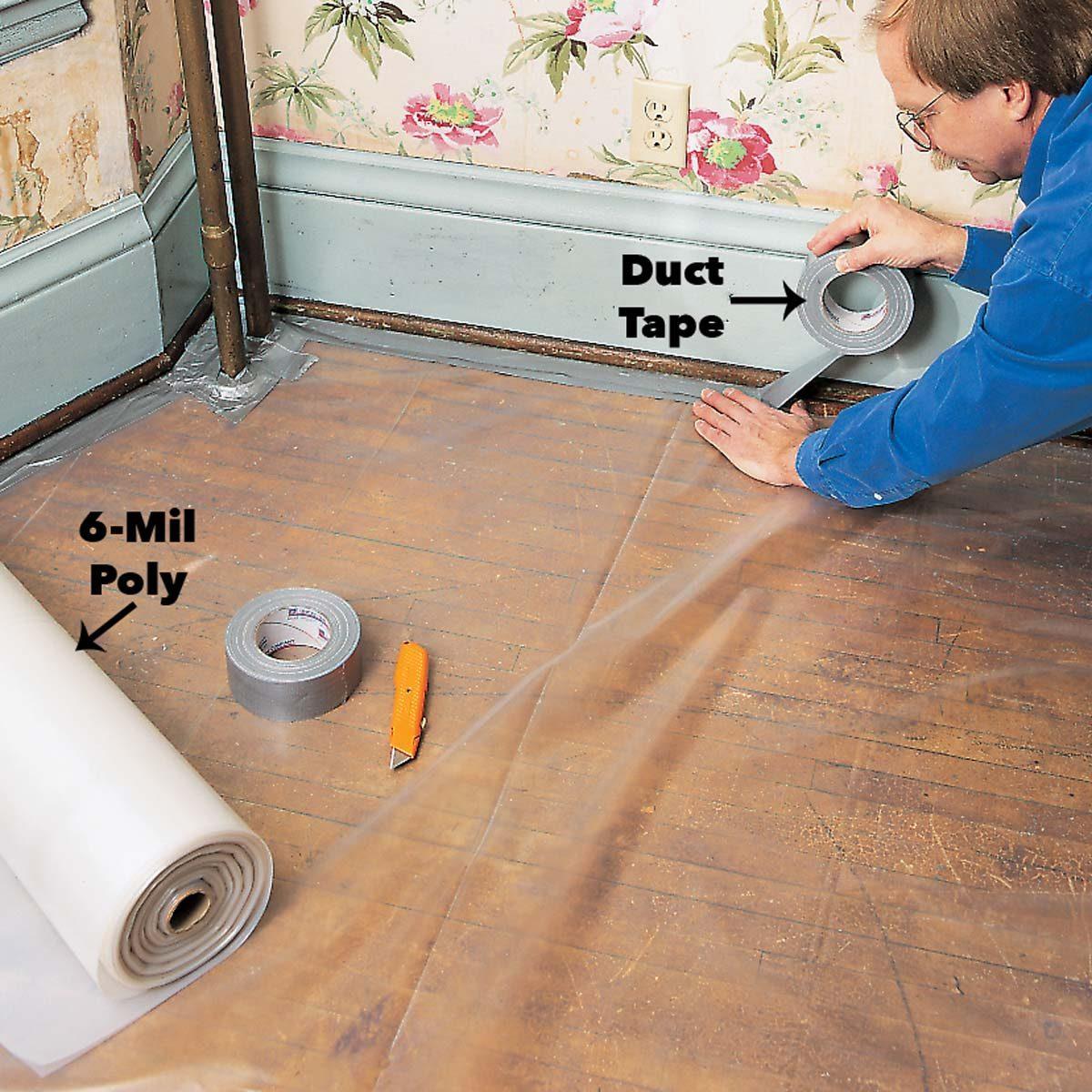 control lead paint dust sealed floor