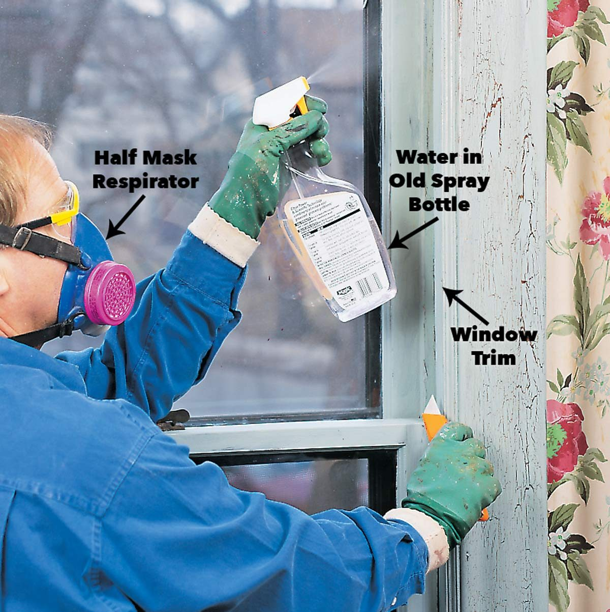 wet the lead paint respirator mask