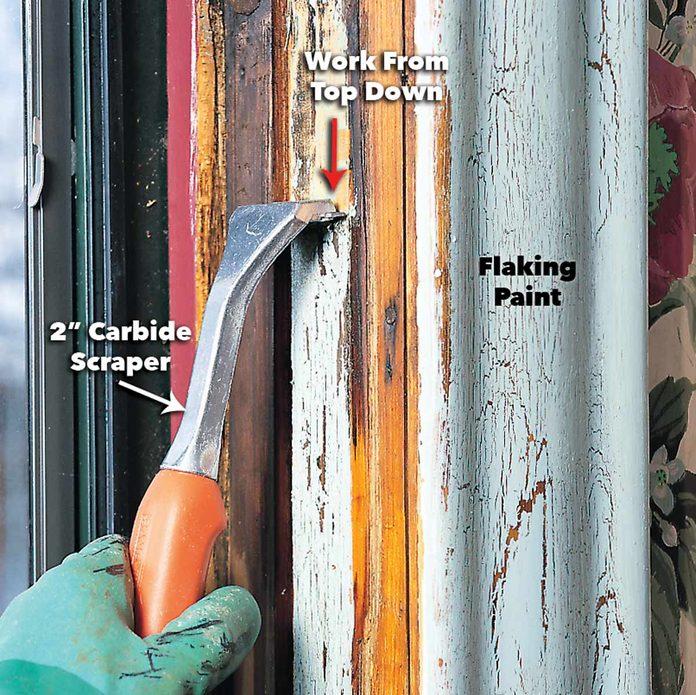 scrape lead paint